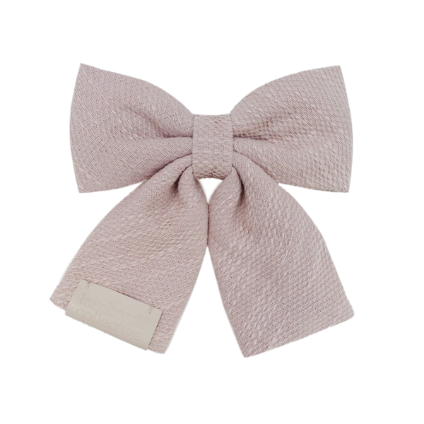 LYON // loose weave cotton bow