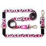 MULTI FUNCTION LEASH - LEOPARD PINK 多功能拖帶