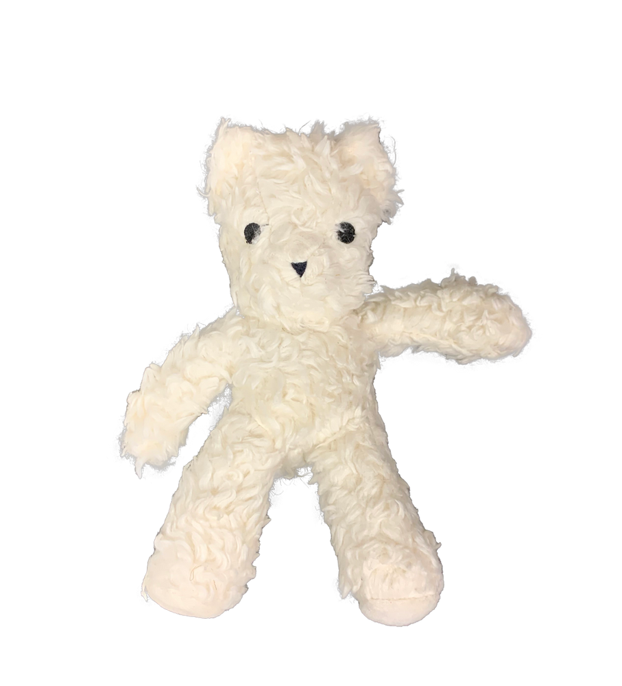 Organic Cotton Bear Squeaky Plush Dog Toy
