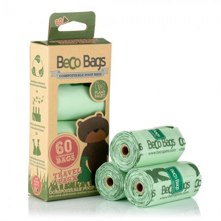 COMPOSTABLE UNSCENTED POOP BAGS 可完全生物降解拾便袋 (4 Rolls)