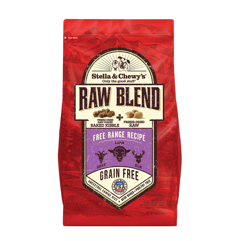 Freeze-Dried Raw Blend Baked Kibble - Free Range Recipe 低溫烘焙乾糧+凍乾生肉粒 小羊撞鹿配方 3.5lbs