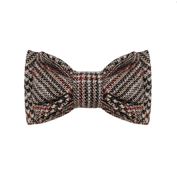 YALE // double layer tartan wool bow tie