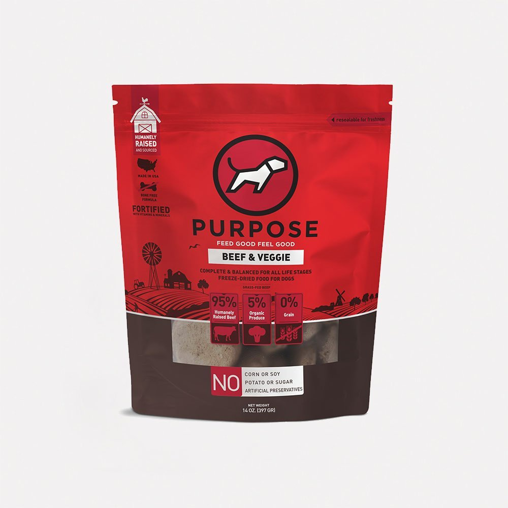 Beef & Veggie Freeze-Dried Dog Food 牛肉配方脫水狗糧 14oz