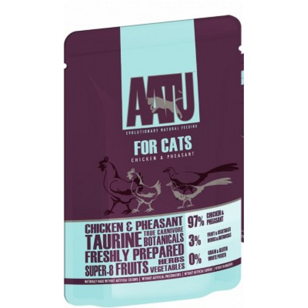 AATU CHICKEN & PHEASANT WET CAT FOOD 全配方貓濕糧系列-雞、野雞 85g