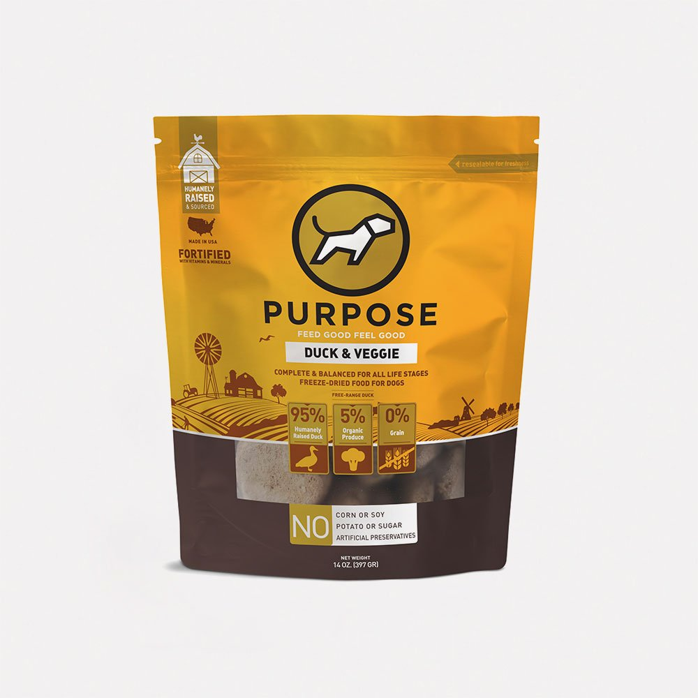 Duck & Veggie Freeze-Dried Dog Food 鴨肉配方脫水狗糧 14oz