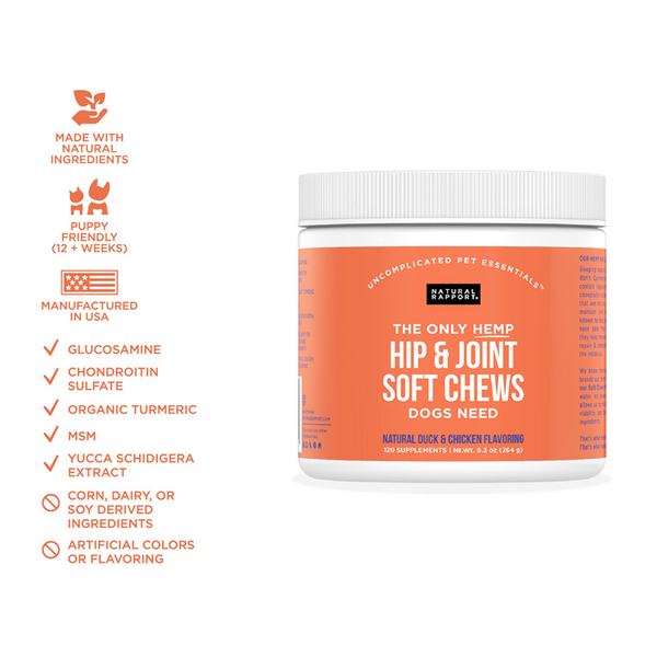 THE ONLY HIP & JOINT SOFT CHEWS DOGS NEED