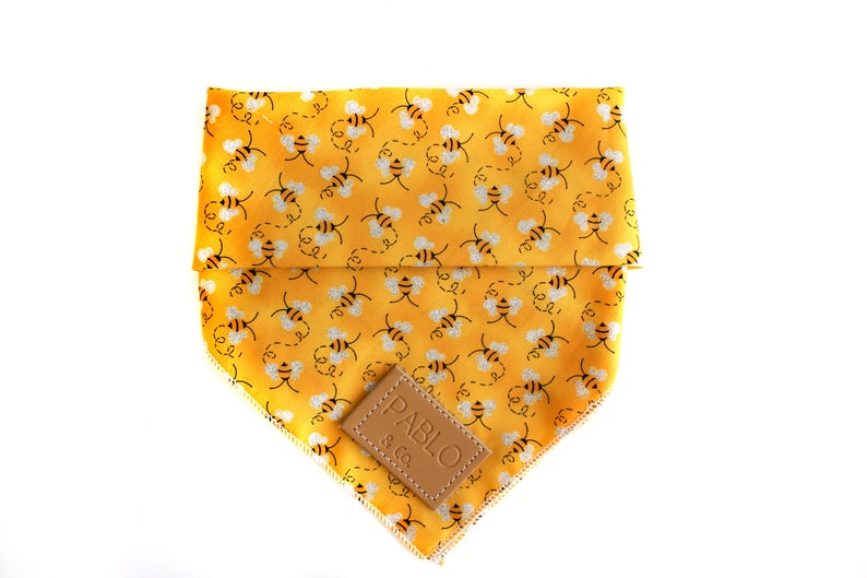 Bee Yourself Bumble Bee Yellow Dog Bandana
