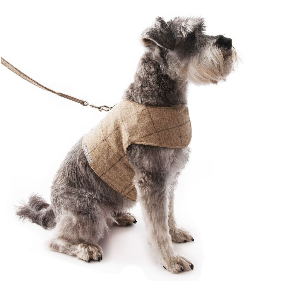 Oatmeal Check Tweed Soft Harness