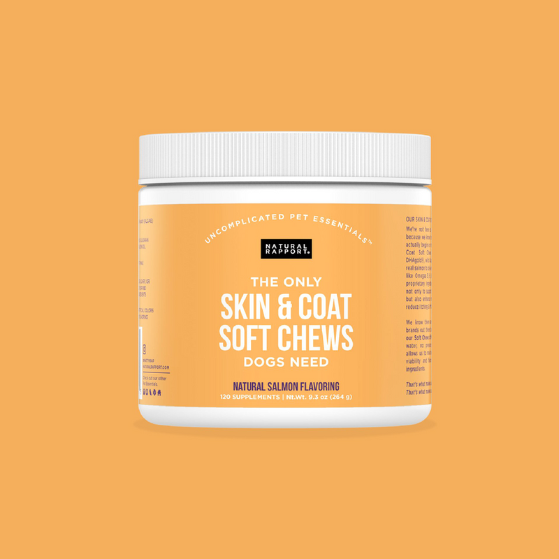 THE ONLY SKIN & COAT SOFT CHEWS DOGS NEED