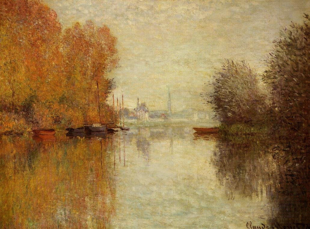 Autumn 12 Season Color Harmony in Fine Art Monet