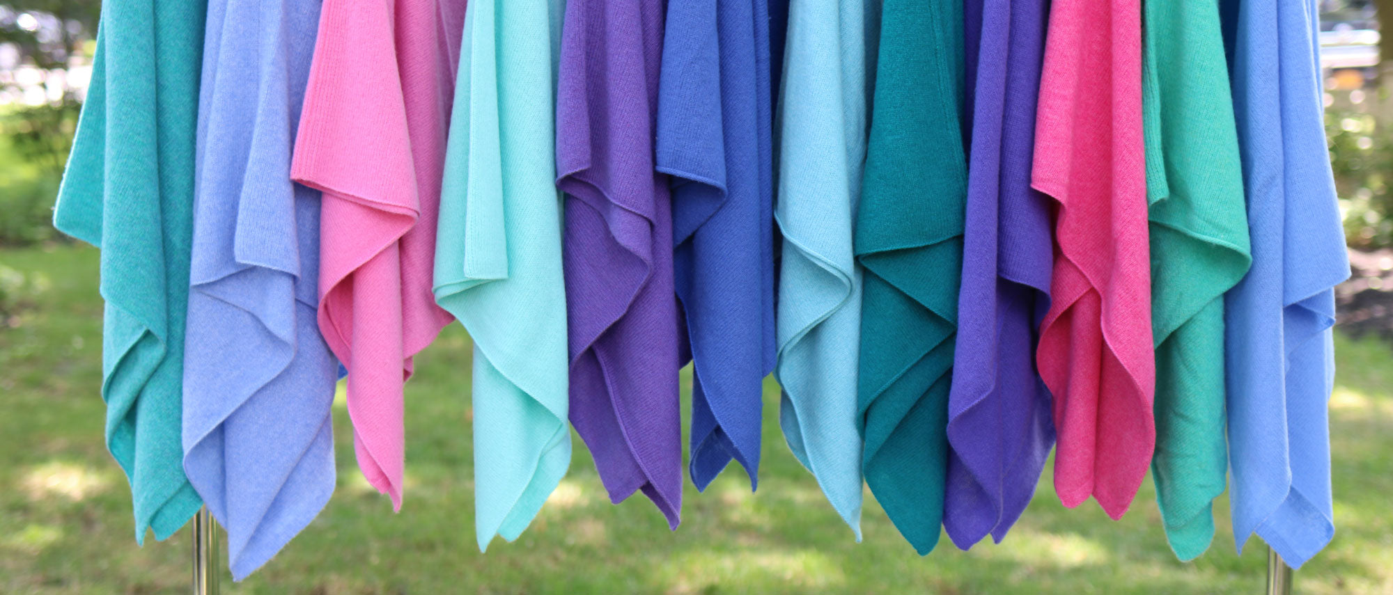 colorful cashmere ponchos