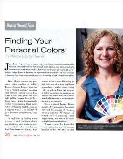 Finding Your Personal Colors Article Beauty Book Magazine