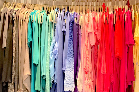 Curated Coordinated Closet in Light Summer Color Harmony