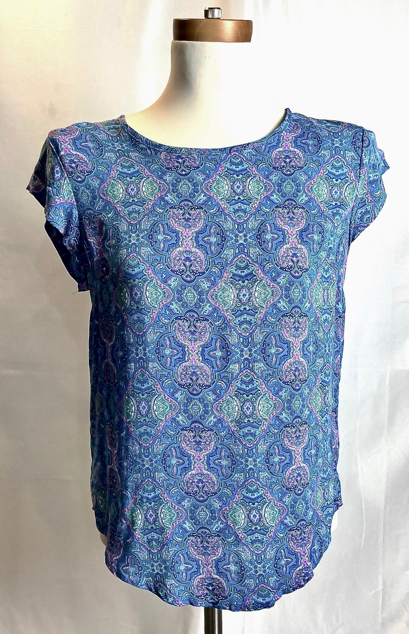 Light Summer Blue Print Blouse
