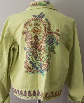 Warm Spring Green Embellished Jacket