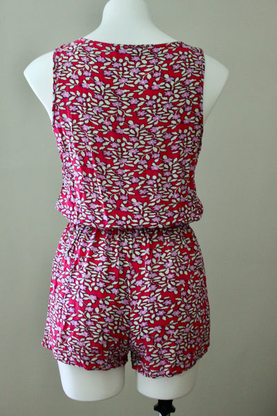 Cool Winter Floral Romper
