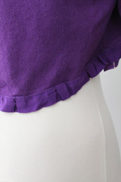 Warm Spring Purple Bolero Cardigan