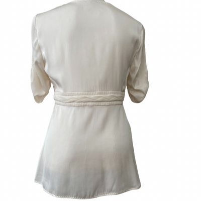 Warm Spring Elie Tahari ivory silk top