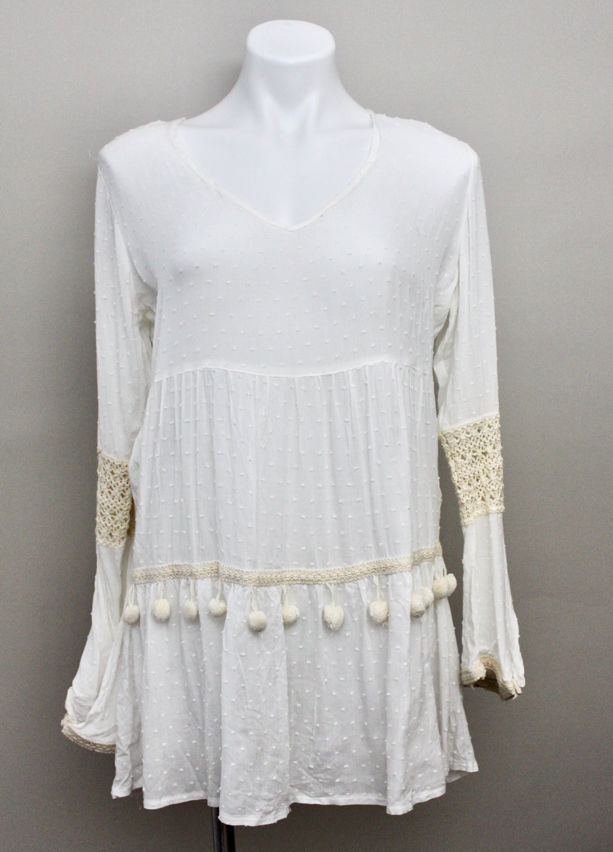 SOLITAIRE SWIM Light Spring sheer dot tunic