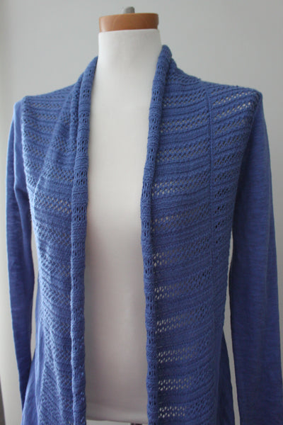 SMALL SKIES ARE BLUE Cool Summer blue cardigan sweater
