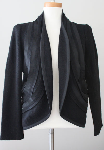 Winter Wool Open Front Jacket