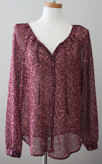 OLD NAVY Dark Autumn burgundy blouse