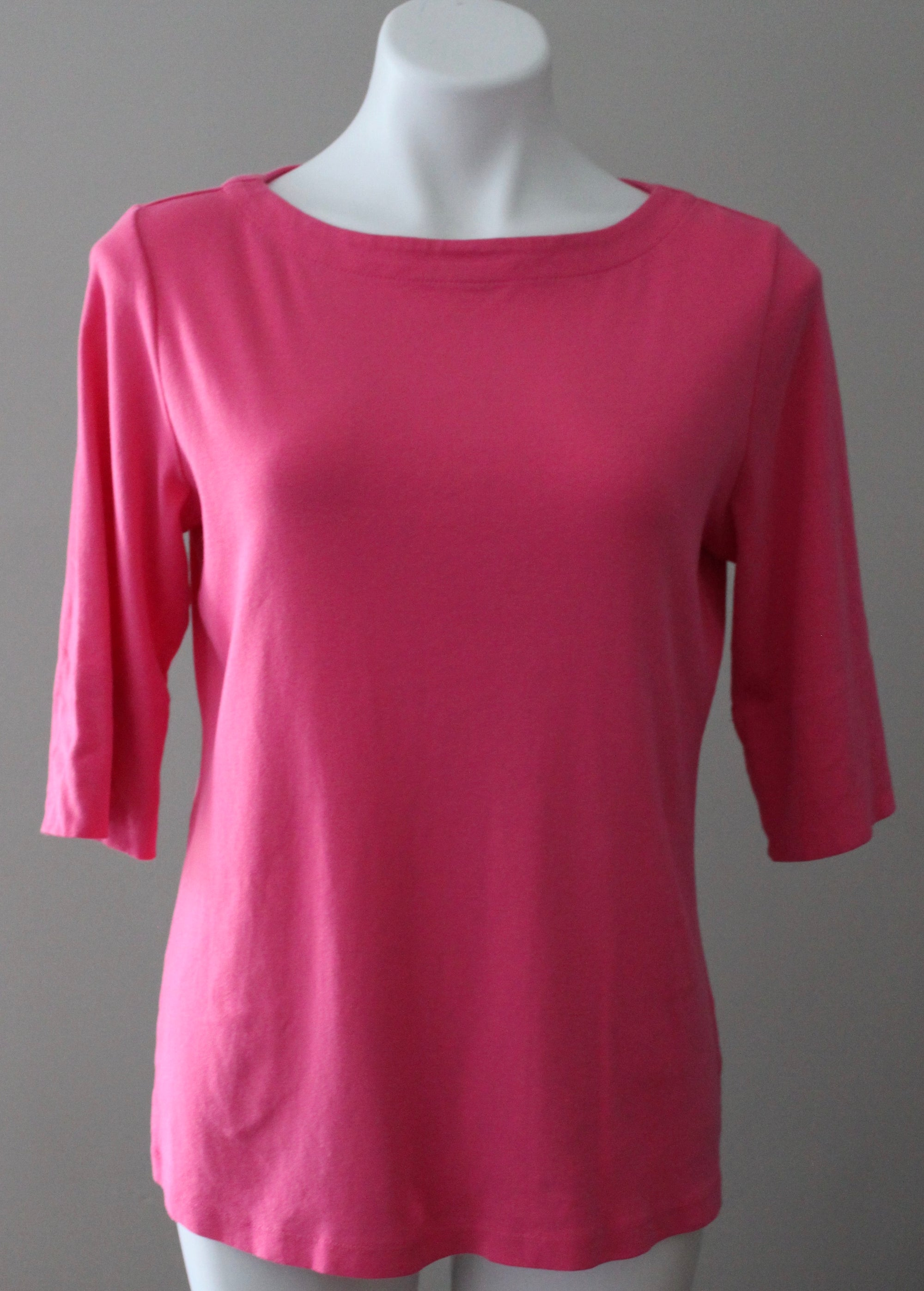 CHRISTOPHER BANKS Light Spring berry pink boatneck tee