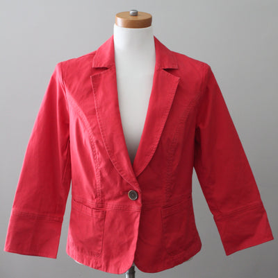 CABI Warm Spring Geranium Red Jacket
