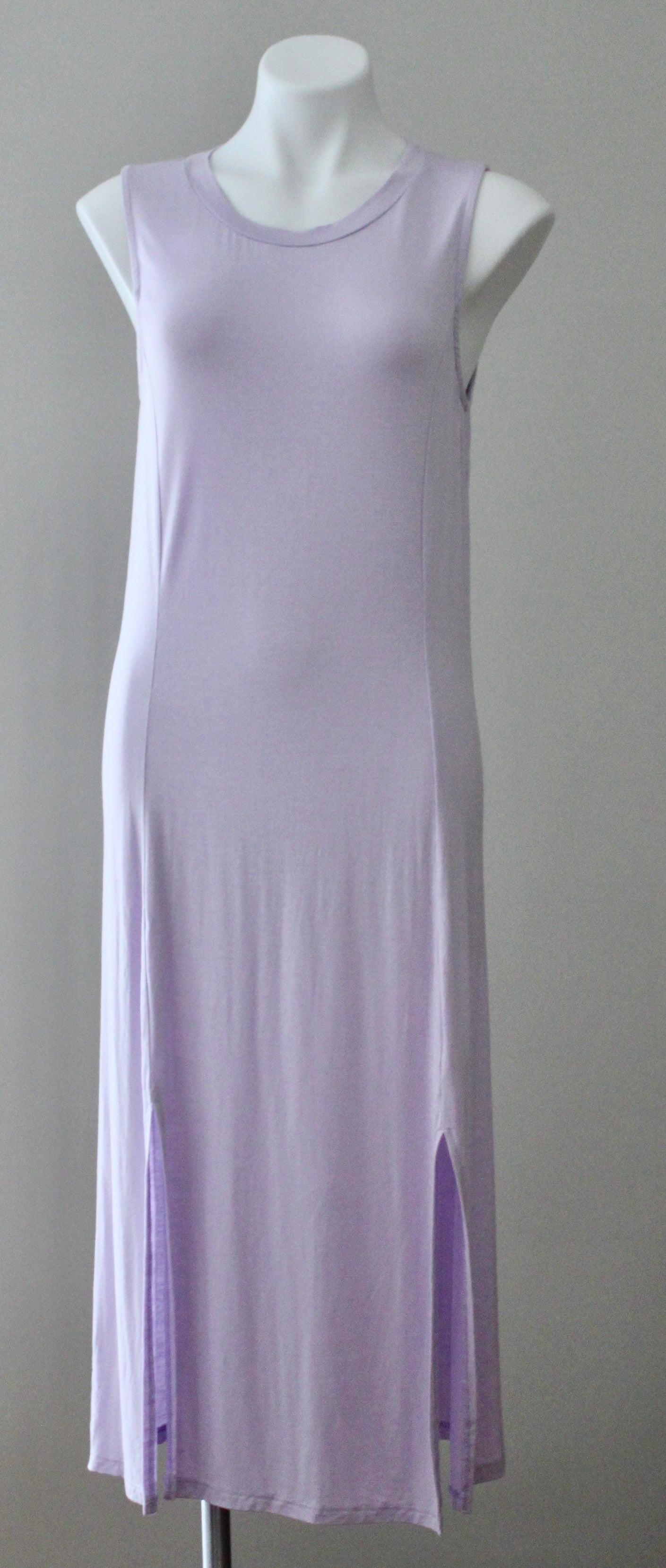 EVERLY Dark Winter iced lavender dress