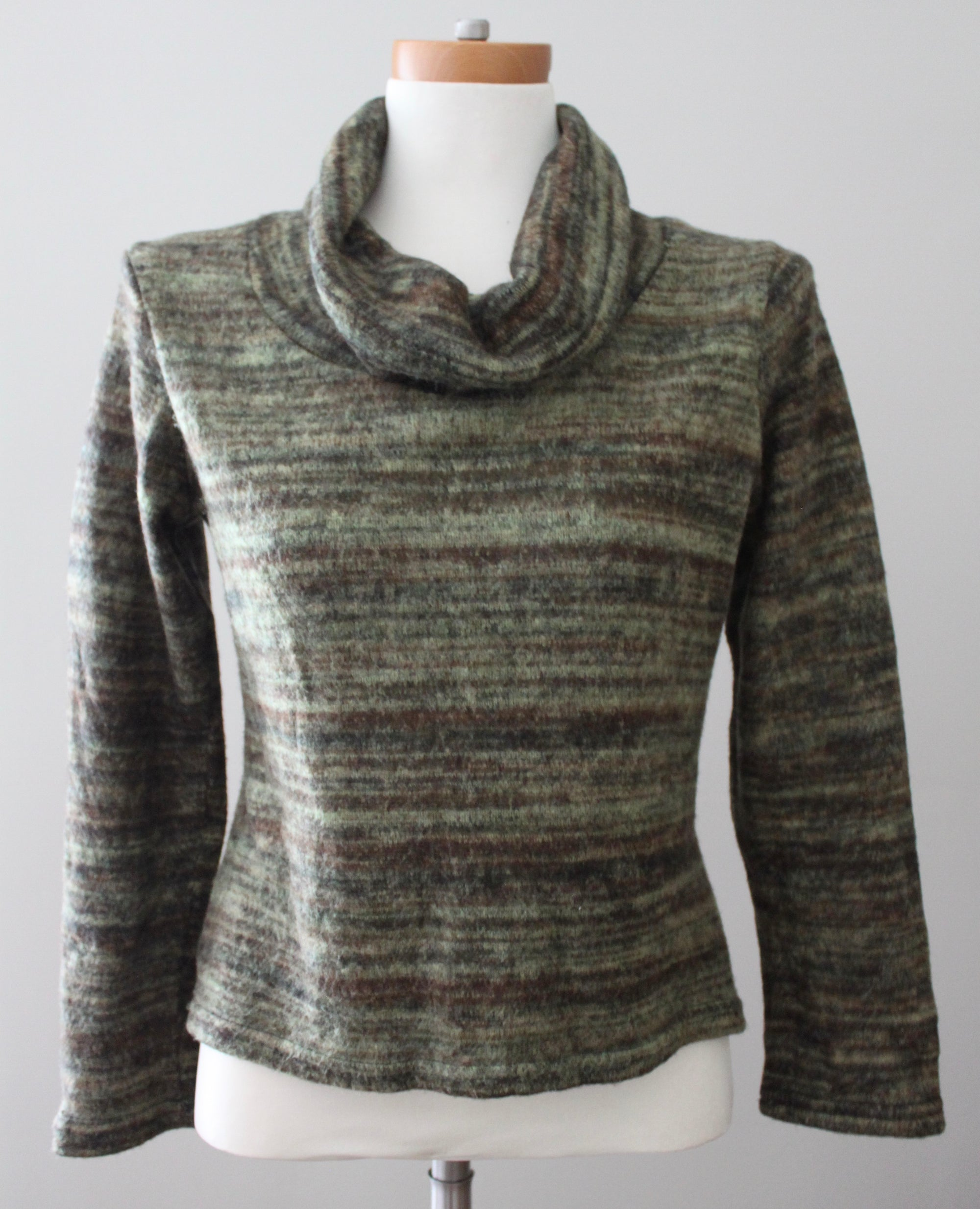 AMERICAN CITY WEAR  Dark Autumn Cowl Neck cropped sweater