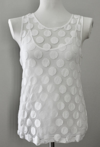 BANANA REPUBLIC Bright Winter sheer dot top