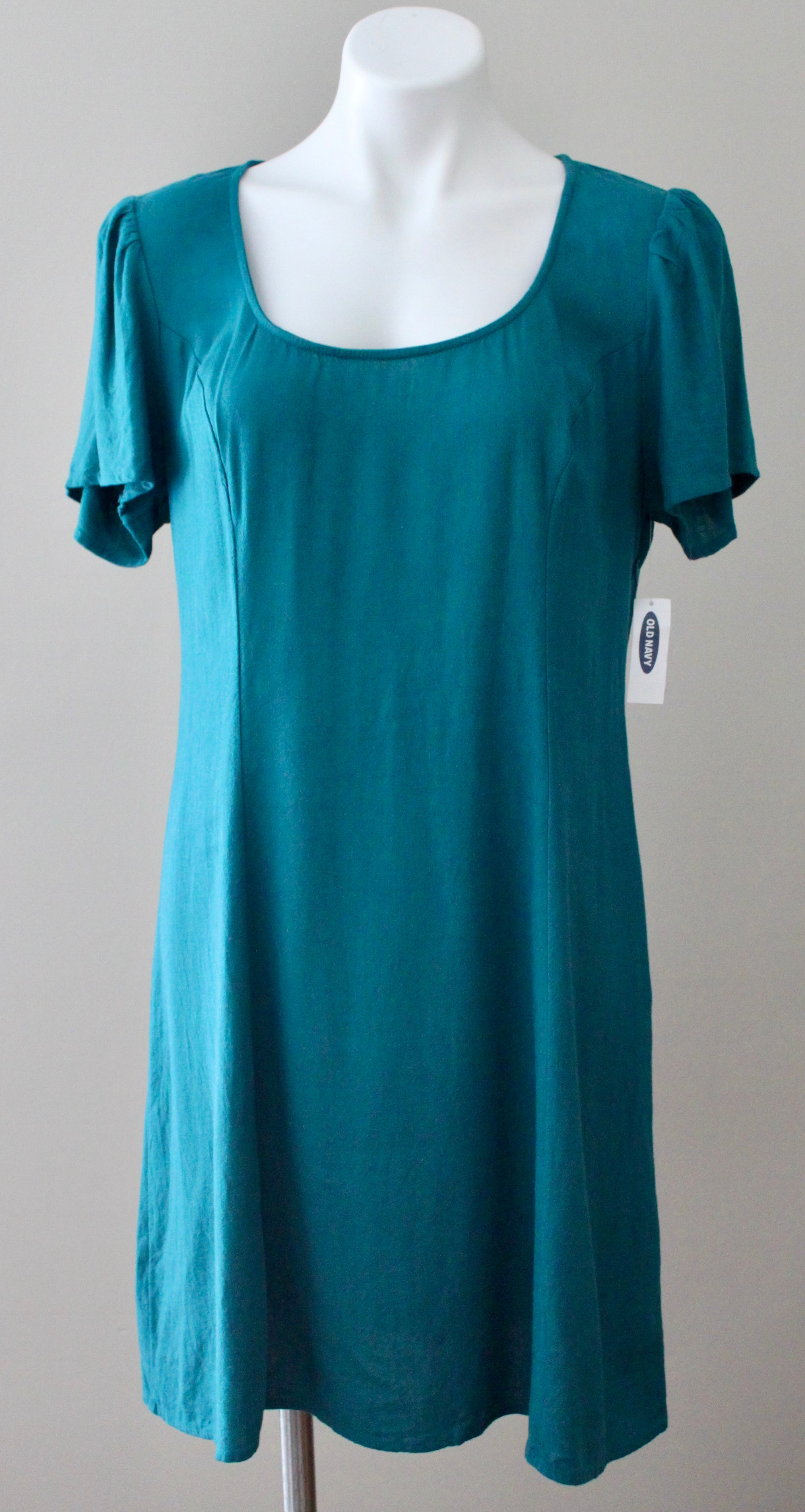 OLD NAVY Warm Autumn canopy green fit and flare linen dress
