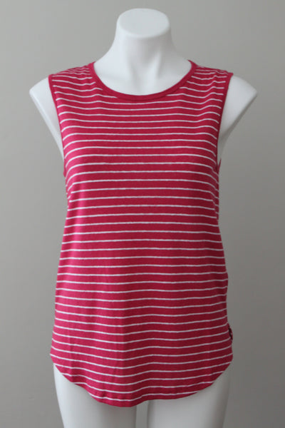 OLD NAVY light summer raspberry tie-back top