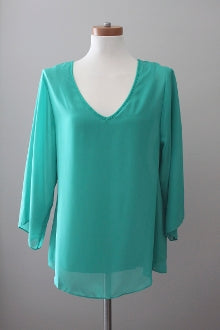 SOFT SURROUNDINGS Light Summer aqua top