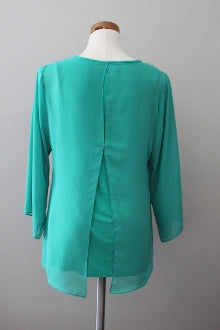 SOFT SURROUNDINGS Light Summer aqua top back view