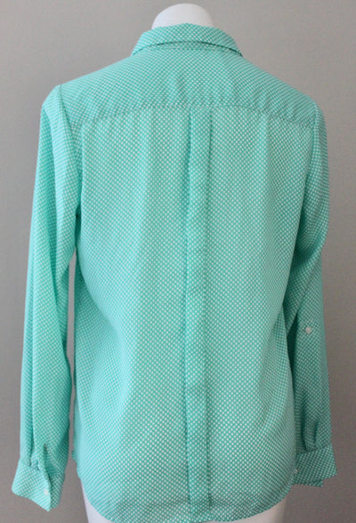 Light Summer Green Dot Blouse