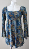 SANTIKI Warm Autumn floral print tunic top
