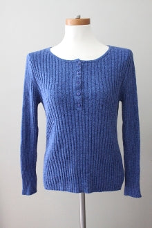 HANNAH Cool Summer blue heather sweater