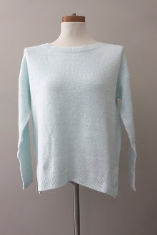 CASLON Cool Winter Icy Blue crewneck sweater