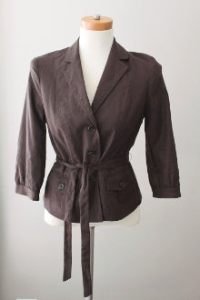 warm spring Banana Republic brown jacket
