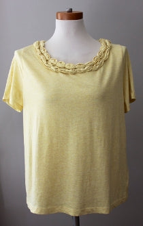 warm spring Talbots yellow tee