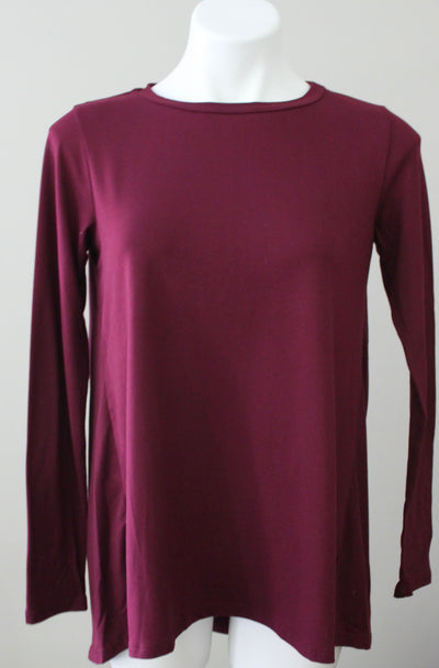 BOBEAU Dark Winter burgundy tunic top