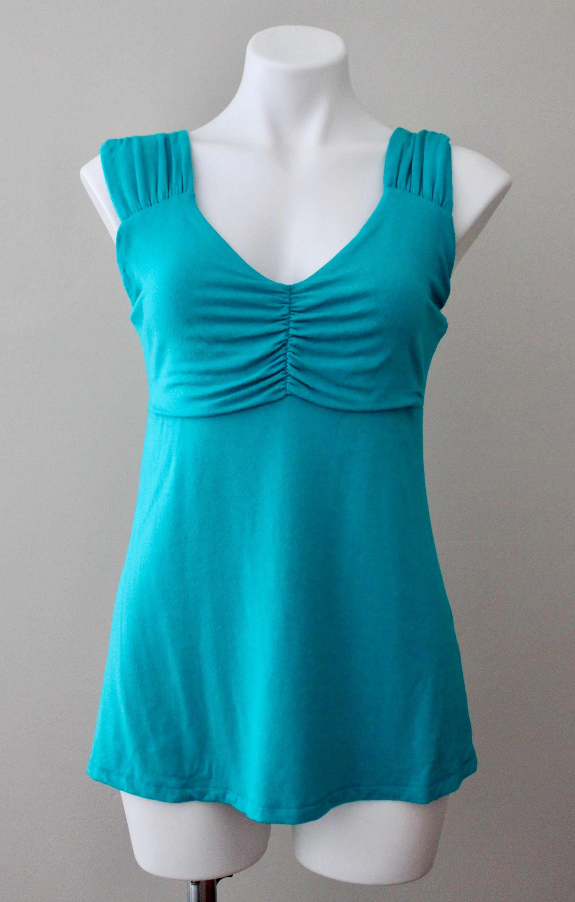 BOSTON PROPER Light Summer teal top