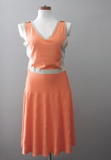 warm spring Romeo & Juliet Couture cantaloupe dress