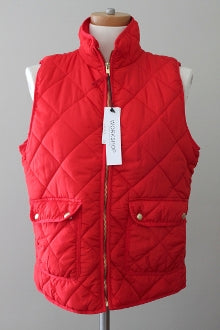 WORKSHOP REPUBLIC Bright Spring red quilted vest