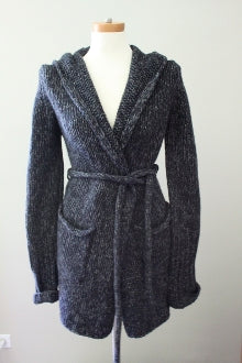 J CREW Dark Autumn charcoal sweater coat