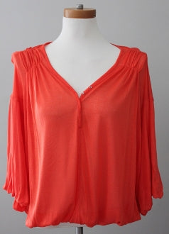 FREE PEOPLE Bright Spring romantic orange top
