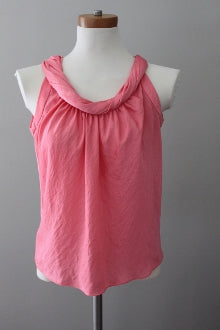 TALBOTS Light Spring coral top