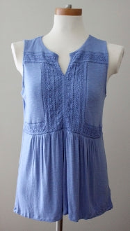 CUPIO Cool Summer cornflower blue top