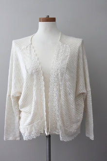 warm spring MONTEAU cream romantic cardigan